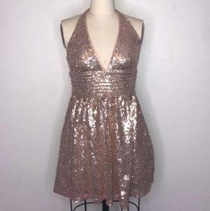 Forever 21• light pink sequin mini dress